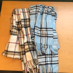Gorgeous plaid scarves!